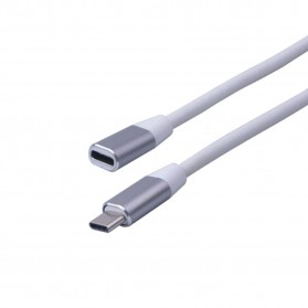 Elistop Kabel USB 3.1 Type C Extension Cord Male to Female 1 Meter - 8096 - White - 2