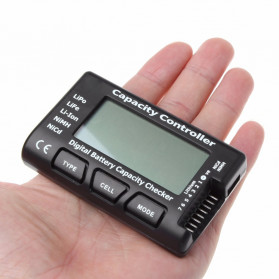 HBB Alat Cek Kapasitas Baterai Digital Battery Capacity Controller Checker Li-ion LiPo LiFe NiMH Nicd- 2-7S - Black