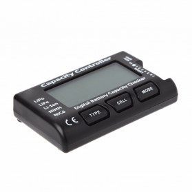 HBB Alat Cek Kapasitas Baterai Digital Battery Capacity Controller Checker Li-ion LiPo LiFe NiMH Nicd- 2-7S - Black - 2