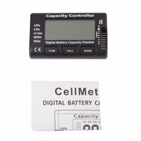 HBB Alat Cek Kapasitas Baterai Digital Battery Capacity Controller Checker Li-ion LiPo LiFe NiMH Nicd- 2-7S - Black - 8