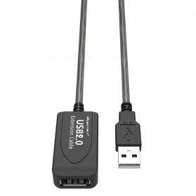 Robotsky Kabel USB Extension Cable 2.0 Dual Chip 15 Meter - R15 - Black - 3