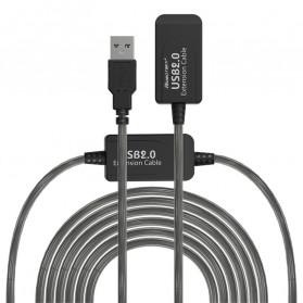 Robotsky Kabel USB Extension Cable 2.0 Dual Chip 15 Meter - R15 - Black - 5