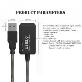 Robotsky Kabel USB Extension Cable 2.0 Dual Chip 15 Meter - R15 - Black - 8