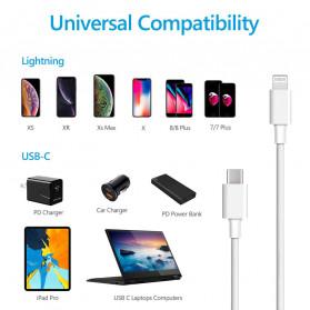 Amoner Kabel Charger USB Type C to Lightning Fast Charging 18W - CTLN - Black - 3