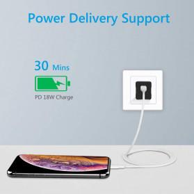 Amoner Kabel Charger USB Type C to Lightning Fast Charging 18W - CTLN - White - 8