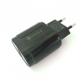 OLAF Charger USB 1 Port QC3.0 3A 18W EU Plug - SLS-002 - Black