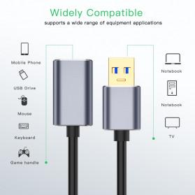 Robotsky Kabel USB 3.0 Ekstension Male to Female 1 Meter - RBT129 - Gray - 4