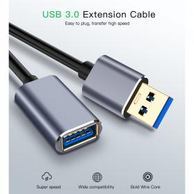 Robotsky Kabel USB 3.0 Ekstension Male to Female 1 Meter - RBT129 - Gray - 6