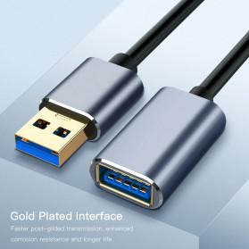 Robotsky Kabel USB 3.0 Ekstension Male to Female 1 Meter - RBT129 - Gray - 7