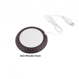 Haofy Tatakan Gelas Pemanas Coffee Cup Warmer Heating Pad - W171 - Dark Brown