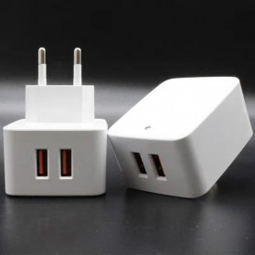 KOOYUTA Charger USB Quick Charging 2 Port EU Plug - CHJ-810D - White