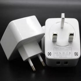 KOOYUTA Charger USB Quick Charging 2 Port EU Plug - CHJ-810D - White - 2
