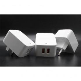 KOOYUTA Charger USB Quick Charging 2 Port EU Plug - CHJ-810D - White - 3
