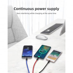 Icebingo Kabel Charger 3 in 1 Micro USB + Lightning + USB Type-C - F141 - Black - 2