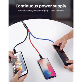 Icebingo Kabel Charger 3 in 1 Micro USB + Lightning + USB Type-C - F141 - Black - 7
