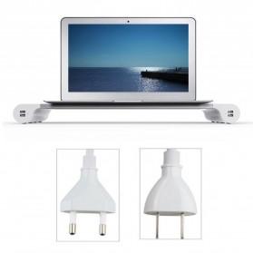 Besegad Meja Monitor Stand Aluminium with 4 USB Port - LP-CA033 - Silver - 4