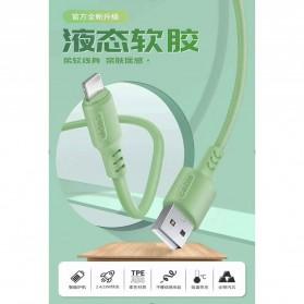 Liquid Soft Kabel Charger Lightning 2.4A 1 Meter - SM208 - Green