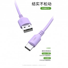 Liquid Soft Kabel Charger USB Type C 2.4A 1 Meter - SM208 - Green - 5