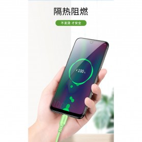 Liquid Soft Kabel Charger USB Type C 2.4A 1 Meter - SM208 - Green - 6