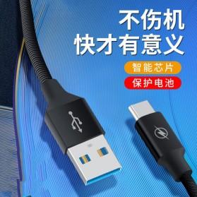 Liquid Soft Kabel Charger Micro USB 2.4A 3 Meter - SM220 - Black - 4