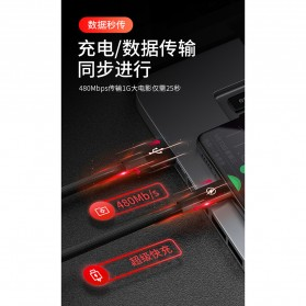 Liquid Soft Kabel Charger Micro USB 2.4A 3 Meter - SM220 - Black - 7