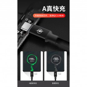 Liquid Soft Kabel Charger Micro USB 2.4A 3 Meter - SM220 - Black - 9