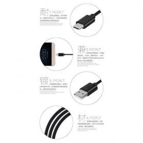 Yoho Kabel Charger USB Type C 1 Meter - Black - 3