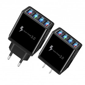 XEDAIN Travel Charger USB Fast Charging 4 Port QC3.0 - 430 - Black - 2