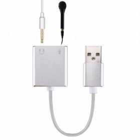 External USB Cable Sound Card 7.1 Channel + USB Type C to USB 3.1 OTG - Silver - 2