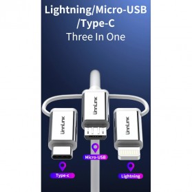 Unnlink Adapter 3 in 1 USB Type C + Micro USB + Lightning to HDMI Mirror Cast Cable MHL with Bluetooth Audio - UN30 - Black - 4