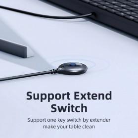 Unnlink USB Sharing Switch 2x4 Port KVM 2 PC USB Box with Extender USB 2.0 - UN946 - Black - 3