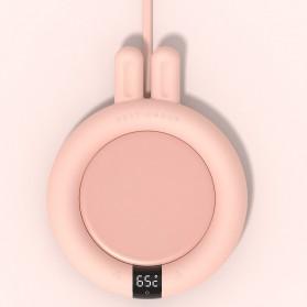 Faroot Tatakan Gelas Pemanas Coffee Cup Warmer Heating Pad Coaster - 353-B - Pink