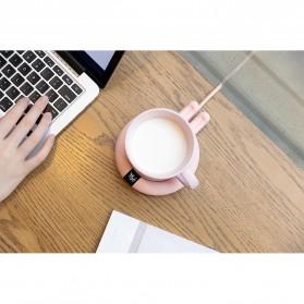 Faroot Tatakan Gelas Pemanas Coffee Cup Warmer Heating Pad Coaster - 353-B - Pink - 10