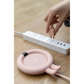 Faroot Tatakan Gelas Pemanas Coffee Cup Warmer Heating Pad Coaster - 353-B - Pink - 12