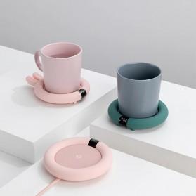 Faroot Tatakan Gelas Pemanas Coffee Cup Warmer Heating Pad Coaster - 353-B - Pink - 3