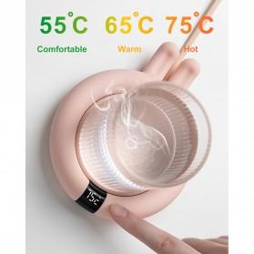 Faroot Tatakan Gelas Pemanas Coffee Cup Warmer Heating Pad Coaster - 353-B - Pink - 9