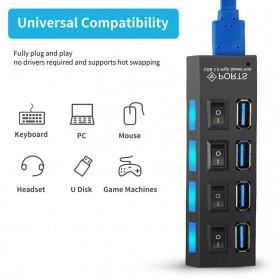 EASYIDEA USB Hub 3.0 4 Port with Power Supply - U9103 - Black - 3