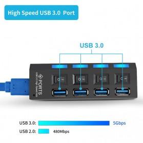 EASYIDEA USB Hub 3.0 4 Port with Power Supply - U9103 - Black - 4