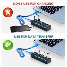EASYIDEA USB Hub 3.0 4 Port with Power Supply - U9103 - Black - 6