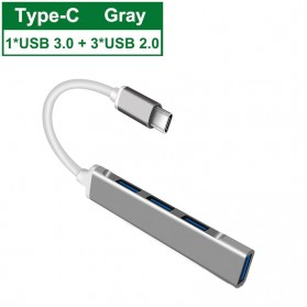 MLLSE USB Type C HUB Adapter High Speed 3.0 4 Port - ML4C - Space Gray