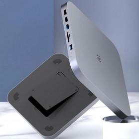 HAGiBiS USB Type C Adapter Hub Dock Station with HDD SATA Enclosure - YC-MC25 - Gray