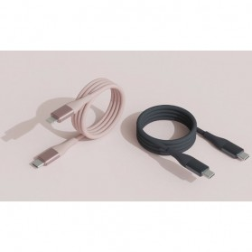 SOLOVE Kabel Charger USB Type C to Type C 1 Meter 3A - DW3 - Pink