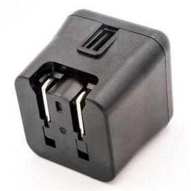 Ktec Travel Charger USB Port 3A EU US UK - P4716 - Black - 3