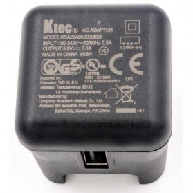 Ktec Travel Charger USB Port 3A EU US UK - P4716 - Black - 5