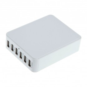 Noosy High Speed Desktop USB Wall Charger 6 Port - ICH-03 - White