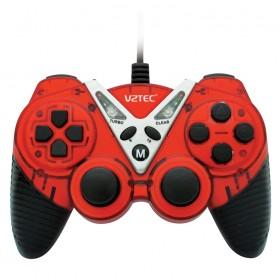 VZTEC USB Dual Shock Controller Game Pad Joystick - VZ6006 - Red