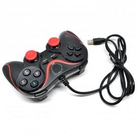 VZTEC USB Dual Shock Controller Game Pad Joystick - VZ6008 - Black/Red - 2