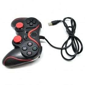 VZTEC USB Dual Shock Controller Game Pad Joystick - VZ6008 - Black/Red - 3