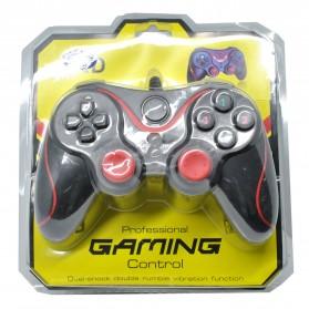VZTEC USB Dual Shock Controller Game Pad Joystick - VZ6008 - Black/Red - 4