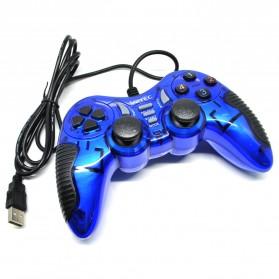 VZTEC USB Dual Shock Controller Game Pad Joystick 2 PCS - VZ3003 - Blue